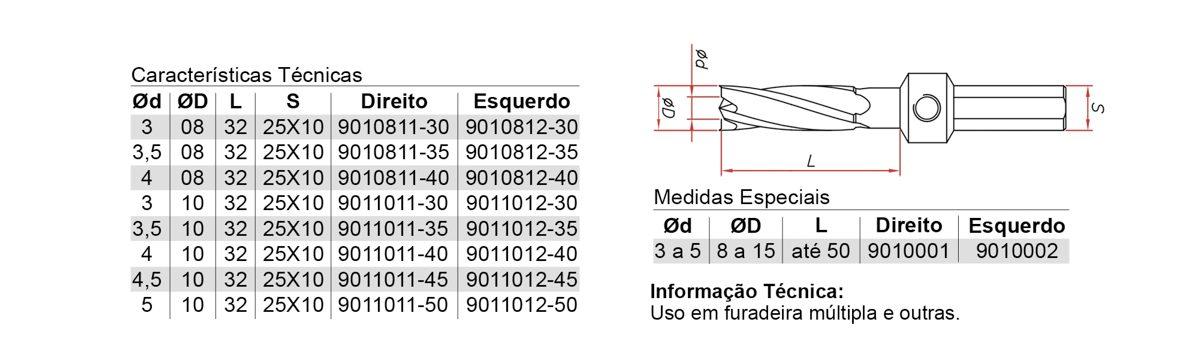 901 – ESCAREADOR HELICOIDAL PONTA RETA – AÇO