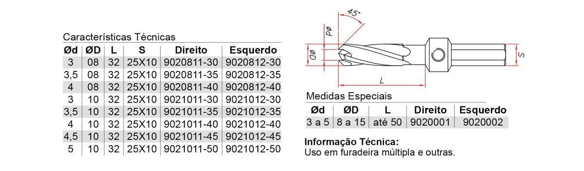 902 – ESCAREADOR HELICOIDAL PONTA CÔNICA – AÇO